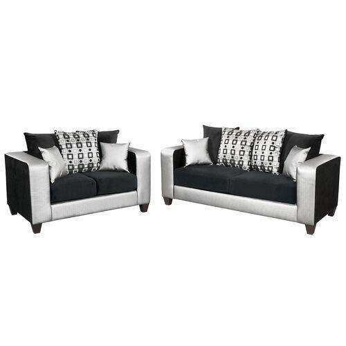 Our Riverstone Implosion Black Velvet Living Room Set with Black & Shimmer Steel Frame is on sale now.