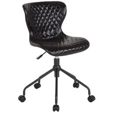 Somerset Home and Office Upholstered Task Chair in Black Vinyl