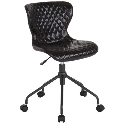Our Somerset Home and Office Upholstered Task Chair in Black Vinyl is on sale now.