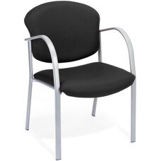 Danbelle Fabric Guest and Reception Chair - Ebony