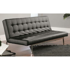 Avenue Sofa Convertible DuraPlush Faux Leather Click-Clak - Black