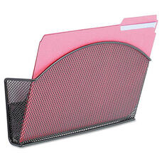Safco® Onyx Magnetic Mesh Panel Accessories - Single File Pocket - Black