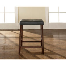 Upholstered Saddle Seat Bar Stool with 24