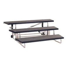 Transfold Carpeted Choral Riser with Built-in Wheels - 48