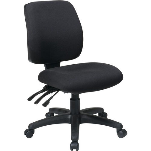 Our Work Smart Mid Back Dual Function Ergonomic Chair with Ratchet Back Height Adjustment - Black is on sale now.