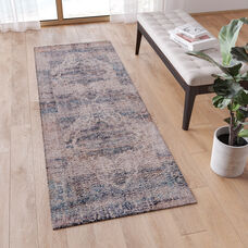Artisan Old English Style Traditional Rug - 2'x6' - Blue Polyester