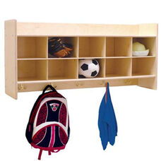 Wall Mountable Baltic Birch Plywood Coat Locker & Cubby Storage Unit with Tuff-Gloss UV Finish - Assembled - 46.75