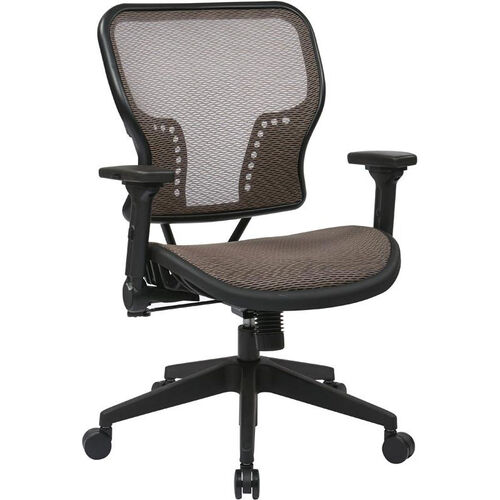 Our Space Air Grid Seat and Back Chair with 2-to-1 Synchro Tilt Control and Height Adjustable Padded Arms - Latte is on sale now.