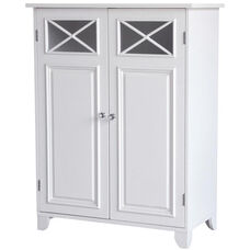 Dawson Floor Cabinet with Two Doors - White