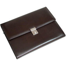 Padfolio File Organizer - Leather - Chestnut