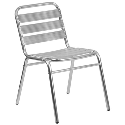 Our Commercial Aluminum Indoor-Outdoor Restaurant Stack Chair with Triple Slat Back is on sale now.