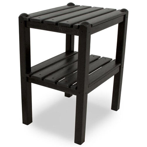 Our POLYWOOD® Two Shelf Side Table - Black is on sale now.