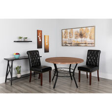 "Tremont 45"" Round Dining Table in Coffee Wood Finish"