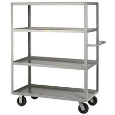 Welded Truck with Push Handle and 4 Lipped Shelves
