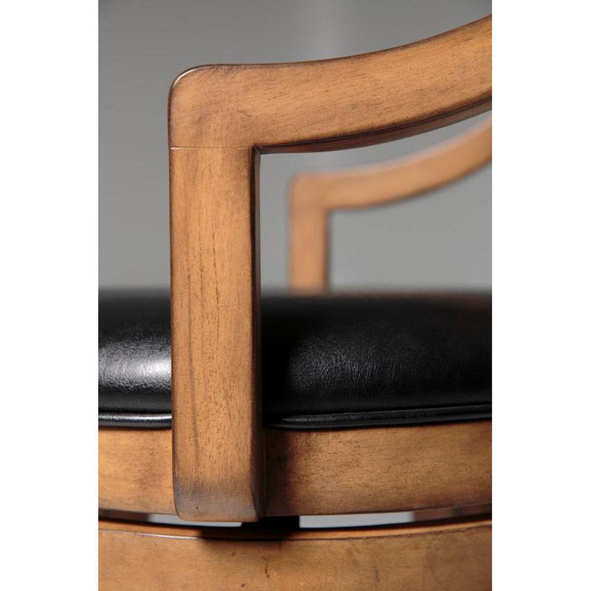 Wood Arm Faux Leather Bar Stool C1w010 Bizchair Com