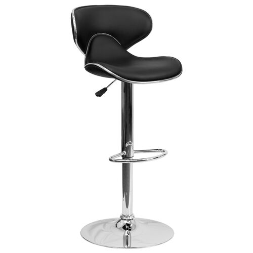 Our Contemporary Cozy Mid-Back Vinyl Adjustable Height Barstool with Chrome Base is on sale now.