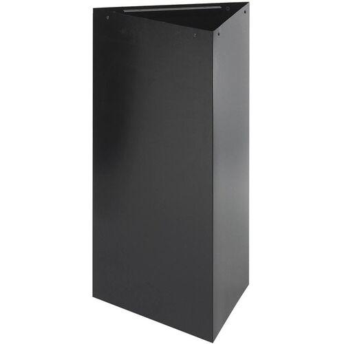 Trifecta® 19 Gallon Triangular Waste Receptacle - Black