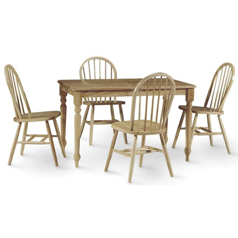 ... Our Solid Wood 5 Piece Dining Table With Turned Legs And 4 Windsor  Dining Chairs