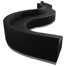 HERCULES Alon Series Black Leather Reception Configuration, 9 Pieces