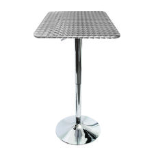 Silver Swirl Square Bistro Bar Table