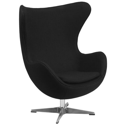 Our Black Wool Fabric Egg Chair with Tilt-Lock Mechanism is on sale now.