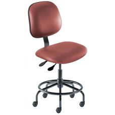 Quick Ship Belize Series Chair with Concave Seat and Tubular Steel Base - Low Seat Height