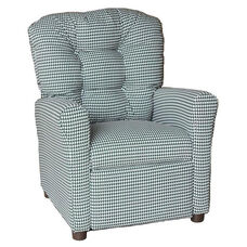 Kids Recliner with Button Tufted Back - Houndstooth