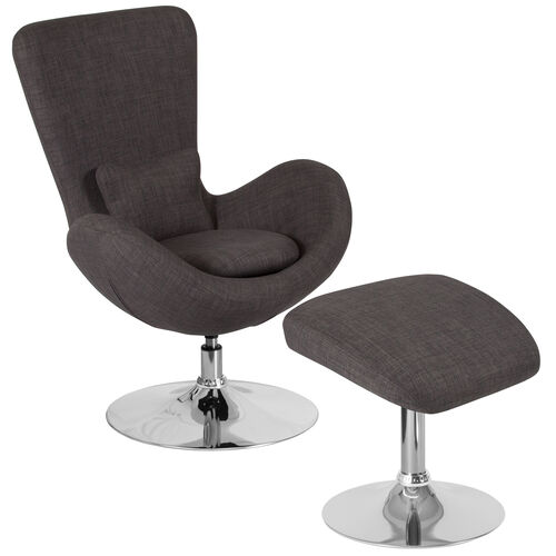Our Egg Series Dark Gray Fabric Side Reception Chair with Ottoman is on sale now.
