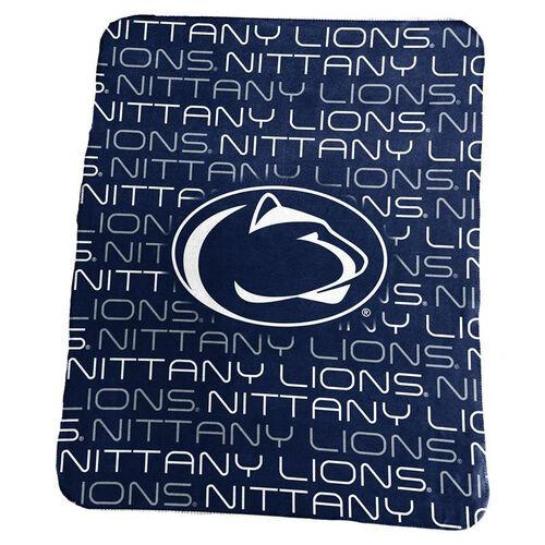 Penn State University Team Logo Classic Fleece Throw