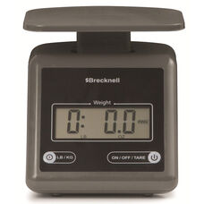 Gray ABS Plastic Electronic Postal Scale with Seven Segment LCD - 7.24 lb Capacity