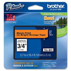 Brother TZE-B41 Black on Fluorescent Orange Lettering Tape - 0.75