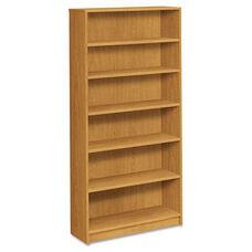 HON® 1870 Series Bookcase - Six Shelf - 36w x 11 1/2d x 72 5/8h - Harvest
