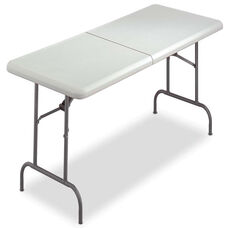 Iceberg IndestrucTables Too Bifold Resin Folding Table - 60w x 30d x 29h - Platinum