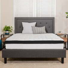 Capri Comfortable Sleep 12 Inch Hybrid Memory Foam and Pocket Spring Mattress, Mattress in a Box