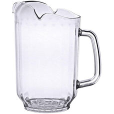 64 oz Water Pitcher with Three Spouts in Clear Polycarbonate