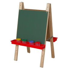 Tot Size Double Chalkboard Easel with Trays on Each Side - 20
