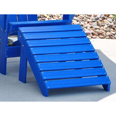 Traditional Recycled Plastic Adirondack Ottoman in Blue