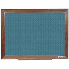 114 Series Wood Frame Tackboard - Designer Fabric - 36