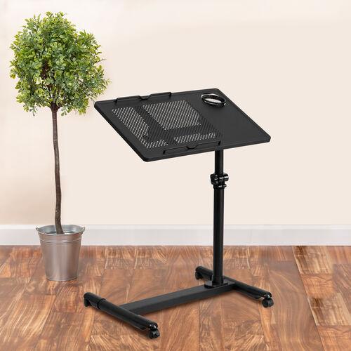 Adjustable Height Steel Mobile Computer Desk