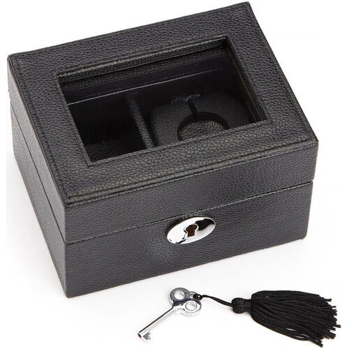 Our Luxury Smart Watch Box and USB Charging Storage Unit Designed for Apple Watch- Milano Top Grain Leather - Black is on sale now.