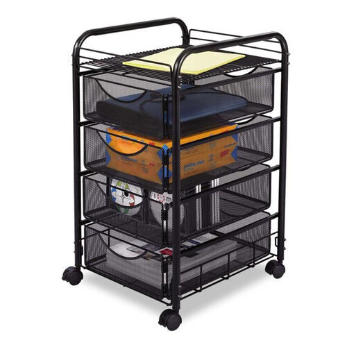 Our Safco® Onyx Mesh Mobile File With Four Supply Drawers - 15-3/4w x 17d x 27h - Black is on sale now.