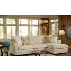 Sophie Contemporary Style Polyester 2 Piece Sectional - Bella Buckwheat