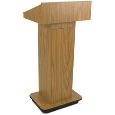 Executive Non-Sound Column Lectern - Oak Finish - 22