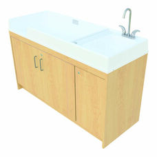 1000 Series 37.5''H Infant Changing Center with Sink on Right - Assembled
