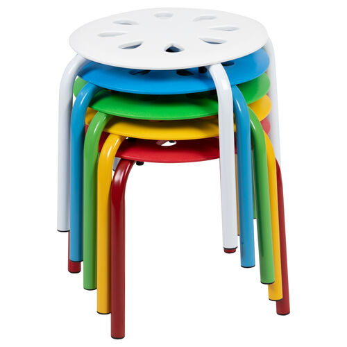 "Our Plastic Nesting Stack Stools, 11.5""Height, Assorted Colors (5 Pack) is on sale now."