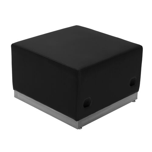 Our HERCULES Alon Series Black LeatherSoft Ottoman with Brushed Stainless Steel Base is on sale now.