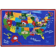 Kid Essentials America the Beautiful Nylon Rug with SoftFlex Backing - 64