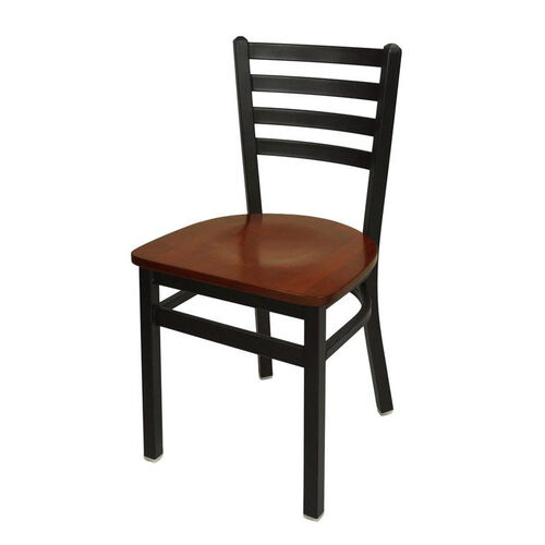 Our Lima Metal Ladder Back Chair - Mahogany Wood Seat is on sale now.