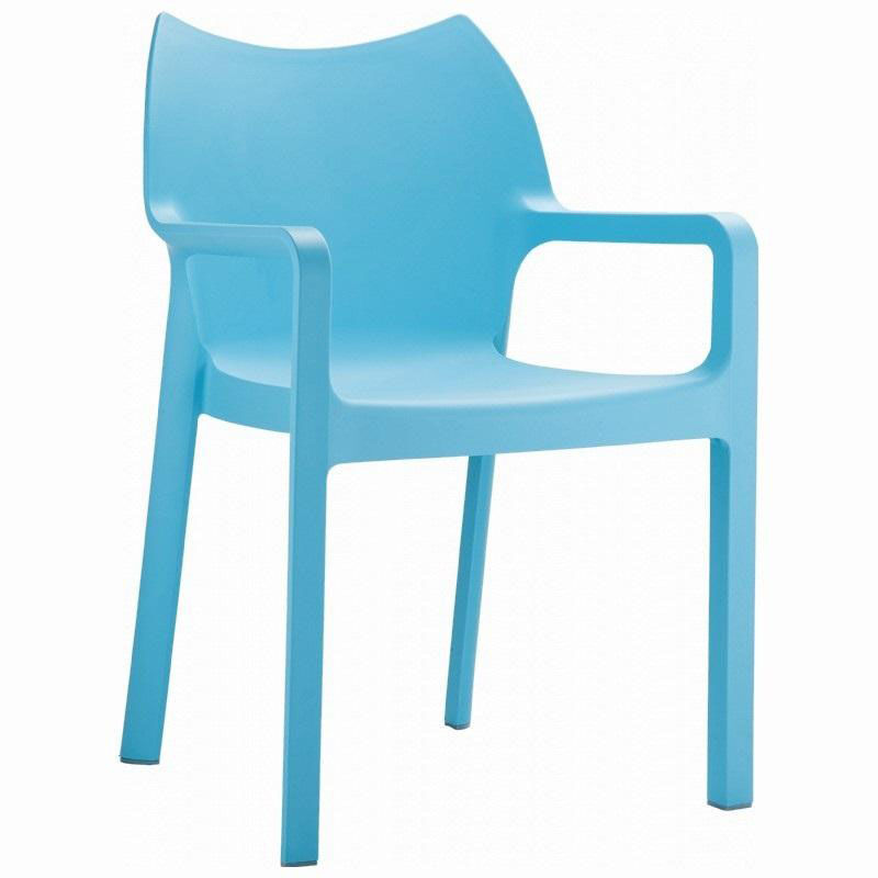 ... Our Diva Outdoor Resin Stackable Dining Arm Chair  Blue Is On Sale Now.