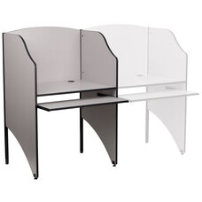Starter Study Carrel in Nebula Grey Finish